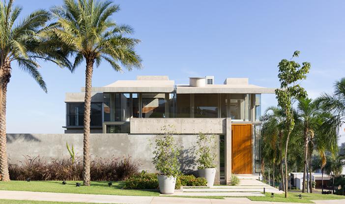 Concreto e vidro foram uma combinação supermoderna.