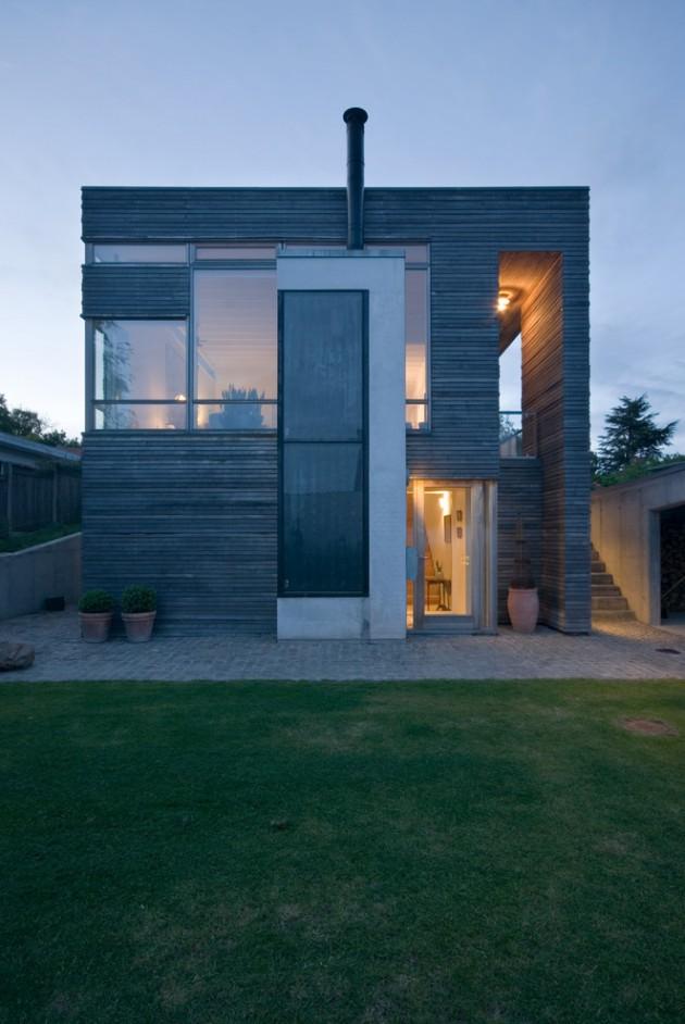 Casa com arquitetura moderna.