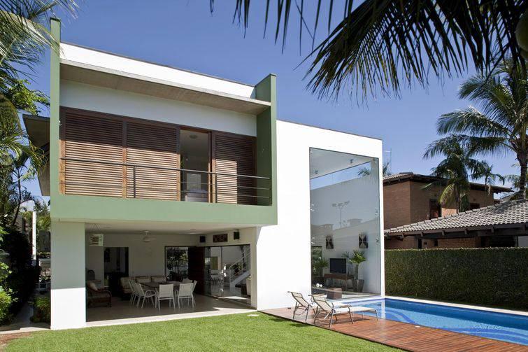 Casa moderna de dois andares.