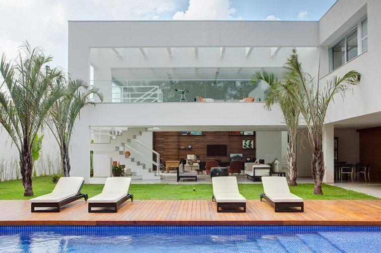 Área interna de uma casa moderna,