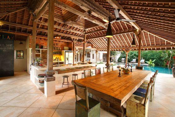 espaço gourmet com decoração litorânea