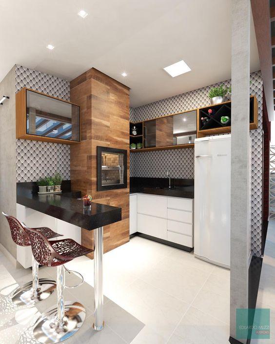 espaços gourmet nos espaços internos da casa.