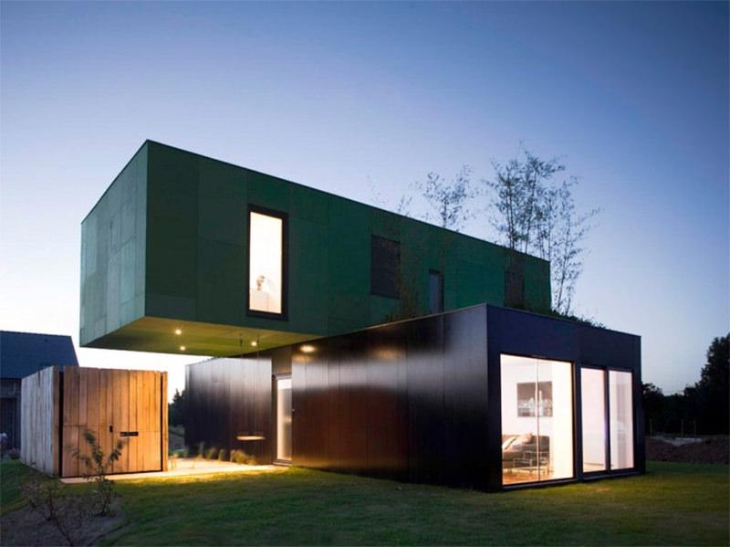 Casas modernas e baratas trazem containers como elemento construtivo.