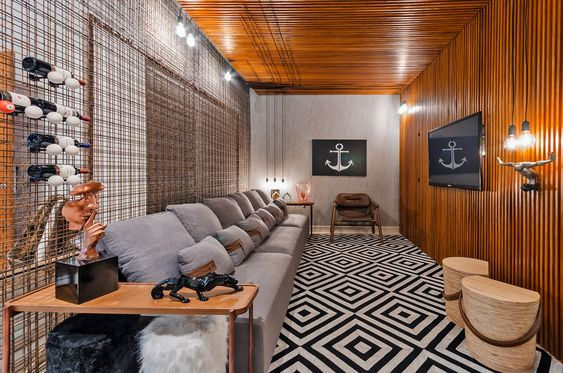 área gourmet com decoração de cinema