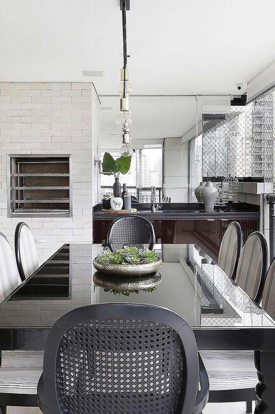áreas gourmet com decoração clássica