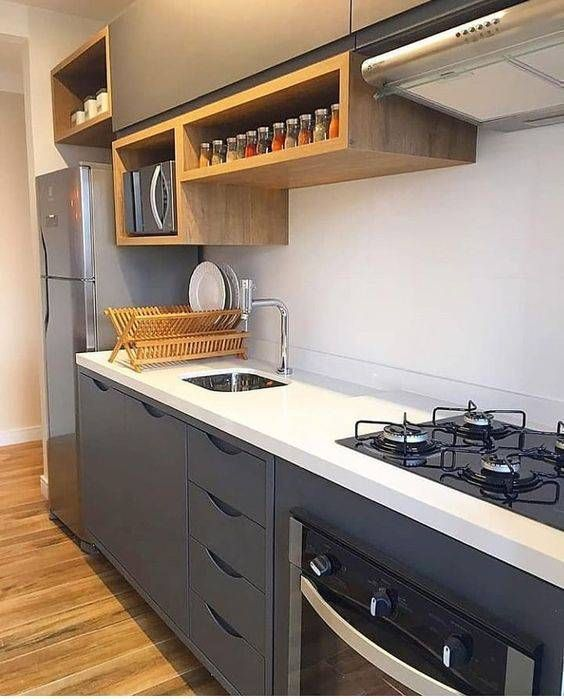 Cozinhas modernas pequenas perfeitas para apartamentos