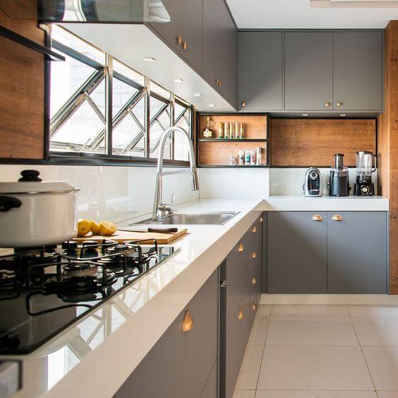 Cozinhas modernas práticas para o dia a dia.