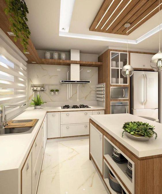 Cozinhas modernas trazem o visual clean e cheio de estilo.