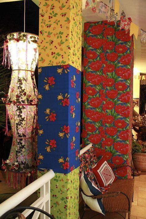 revestimento de tecidos estampados para decoração de festa junina