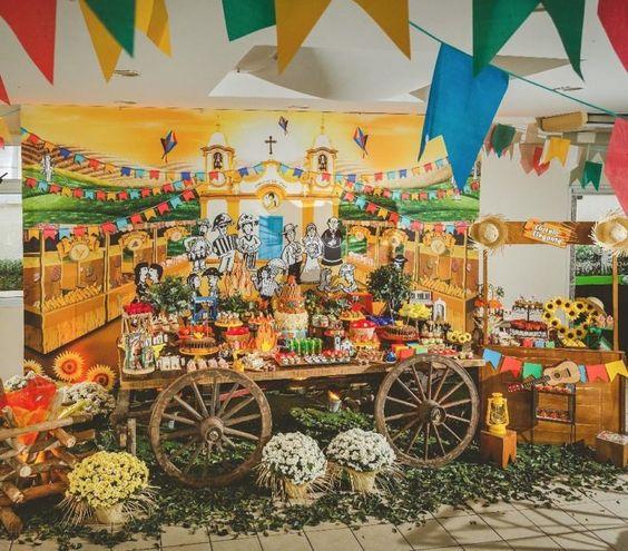 decoração de festa junina com tema nordestino