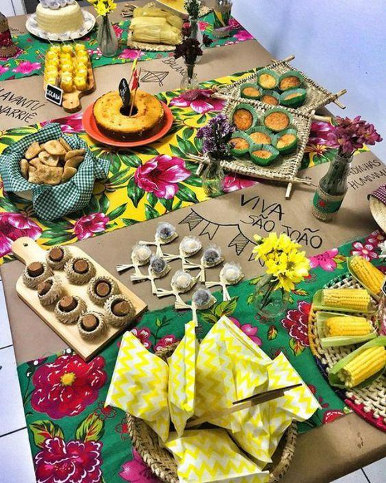 decoração de são joão para mesa de doces