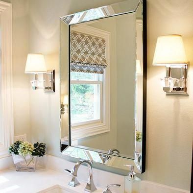 espelho bisotado simples para banheiro