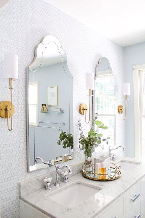 espelho bisotado recortado para banheiro