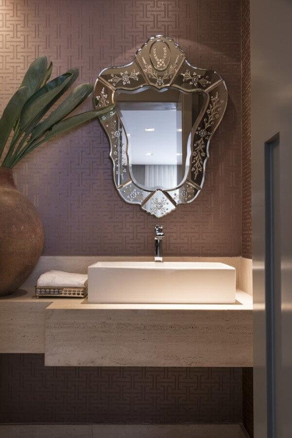 espelho bisotado para banheiro conceitual