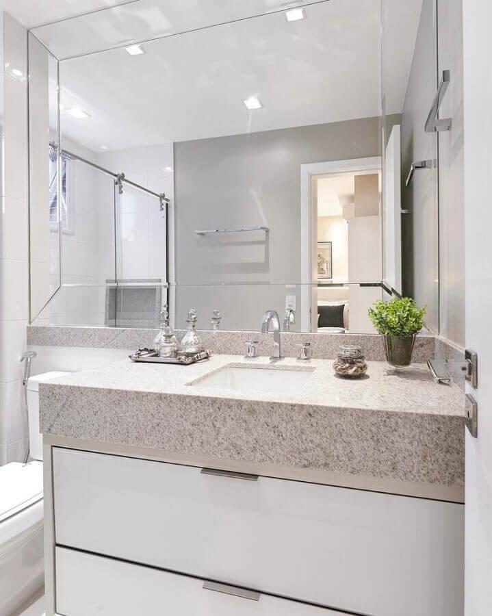 espelho bisotado para banheiro moderno