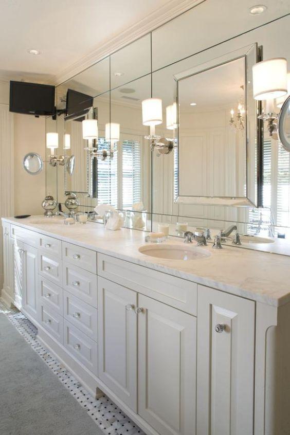 espelho bisotado sobreposto para banheiro