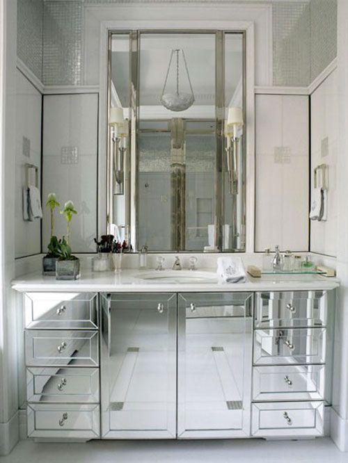 espelho bisotado para armário de banheiro