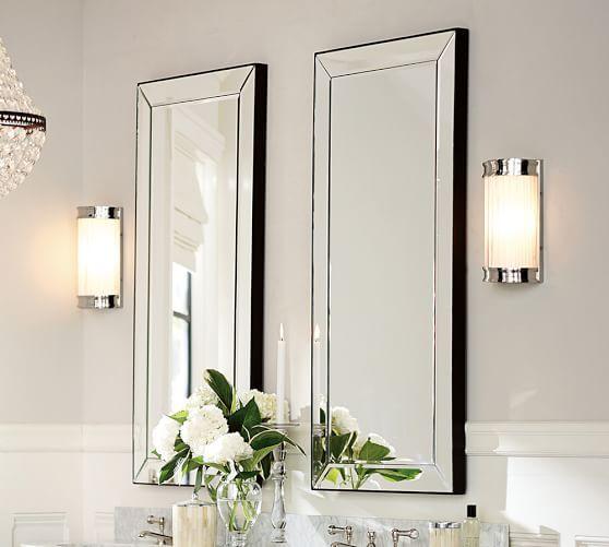 dupla de espelhos bisotados para banheiro