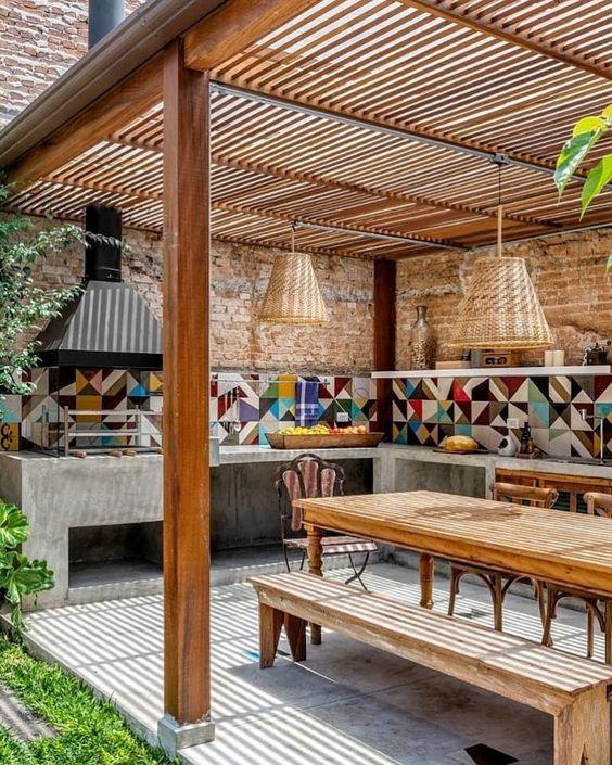 espaços gourmet na área externa.