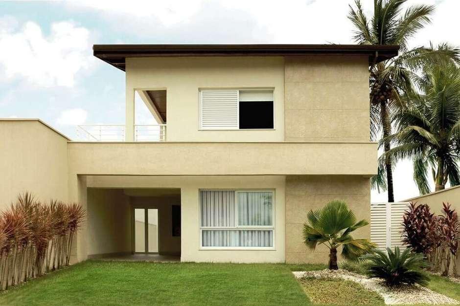 Modelo de casa construída em linhas retas,