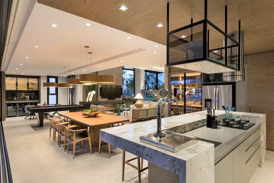 espaços gourmet integrado a outros ambientes.