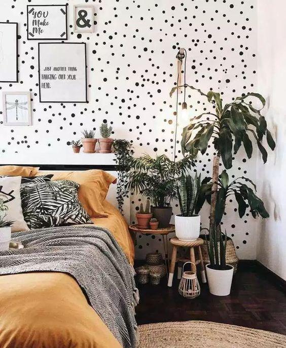 Jardim pequeno no quarto.