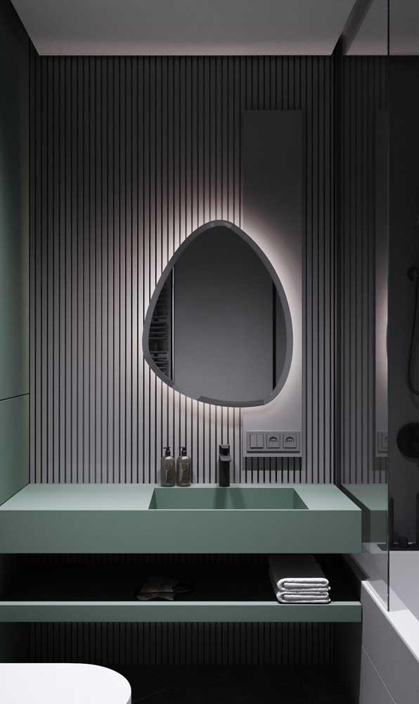 lavabo conceitual iluminado