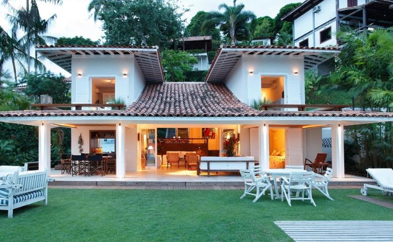 Casa com estilo mais praiano.