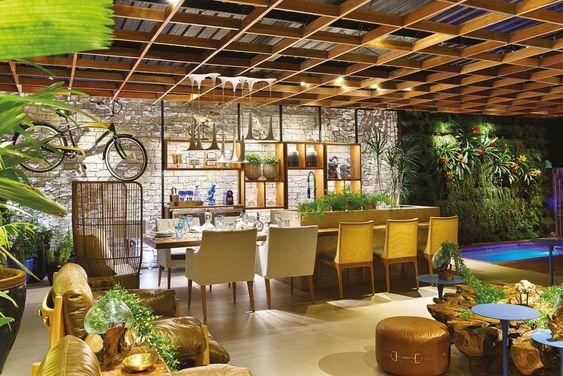 espaço gourmet com paisagismo