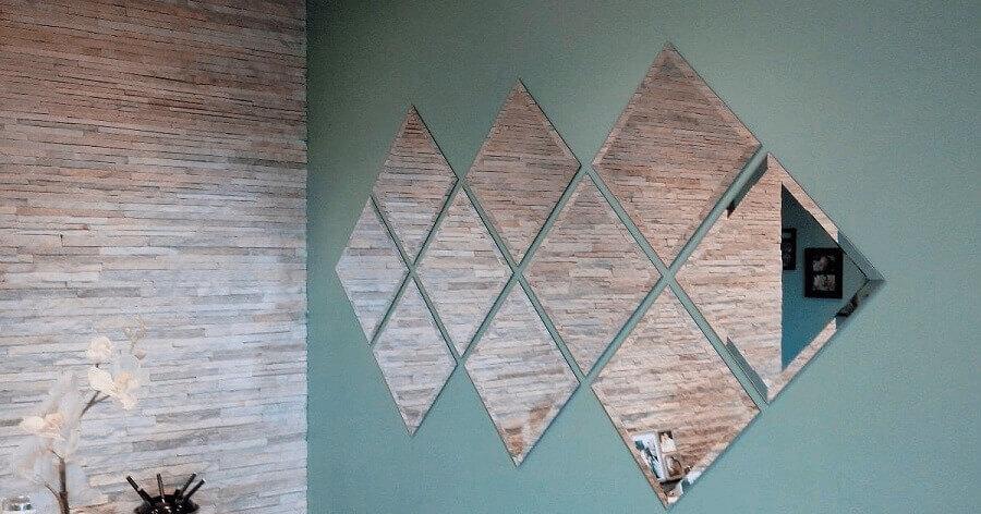 parede com losangos