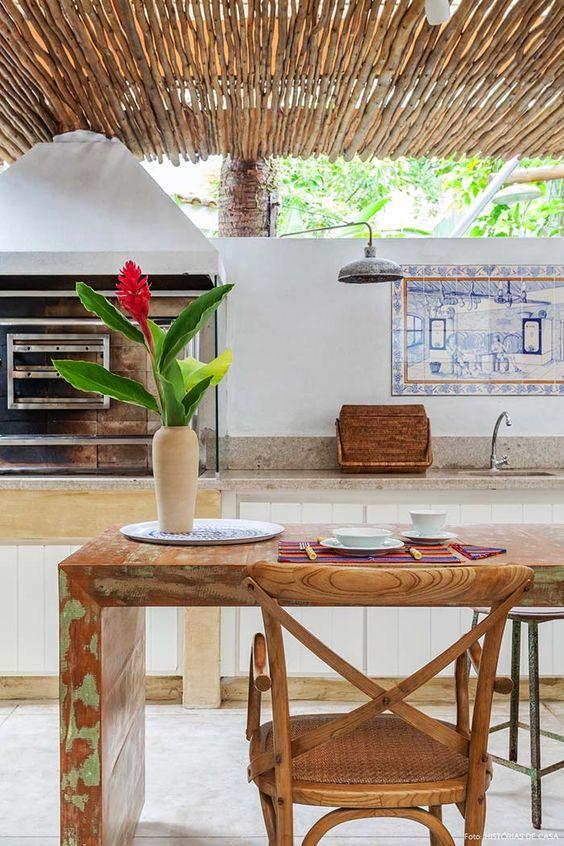área gourmet com estilo praiano