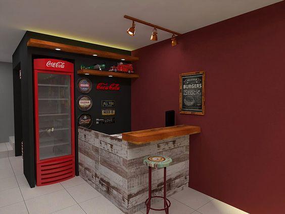 área gourmet com mini bar e refrigeradores