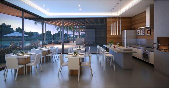 espaços gourmet com salão de festas.