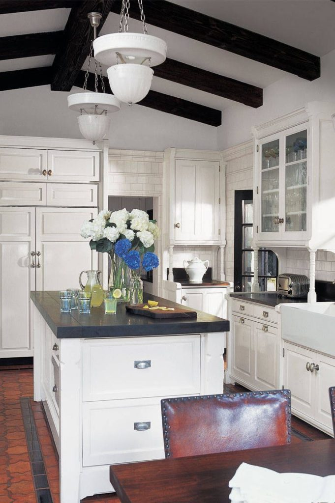 Cozinha rústica.
