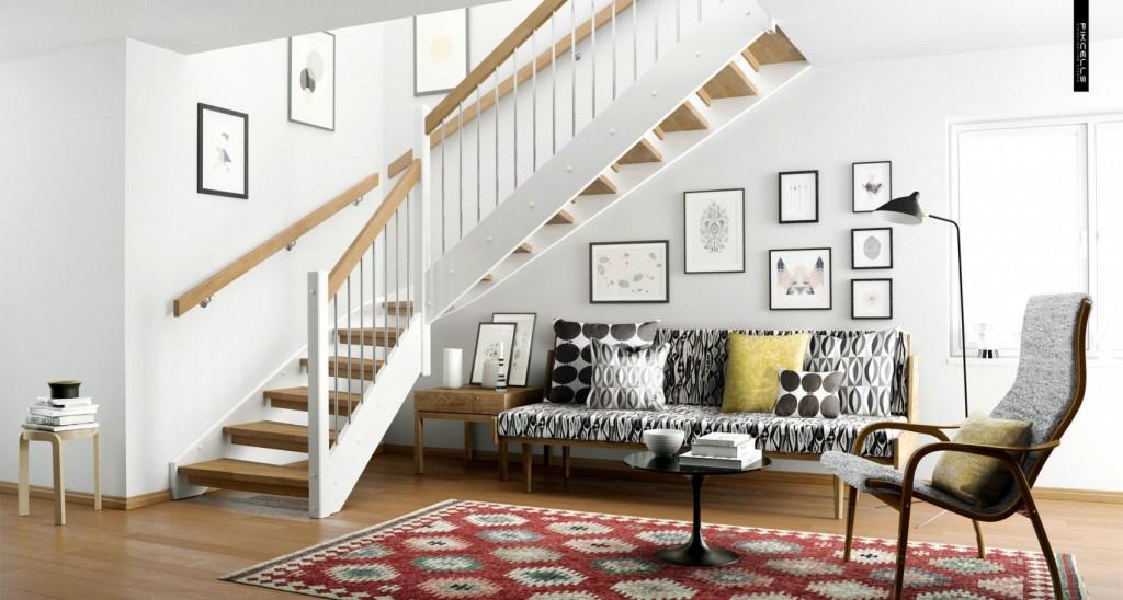 Escada modelo clássico.