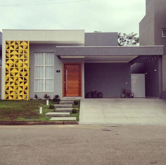 Fachadas de casas modernas com arquitetura simples.