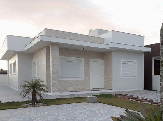Paleta de tons neutros é destaque na construção moderna.