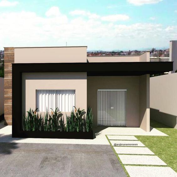 Fachadas de casas modernas pequenas.
