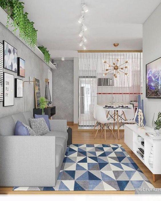 Mais uma sala em que as cores entraram em cena nos objetos decorativos.