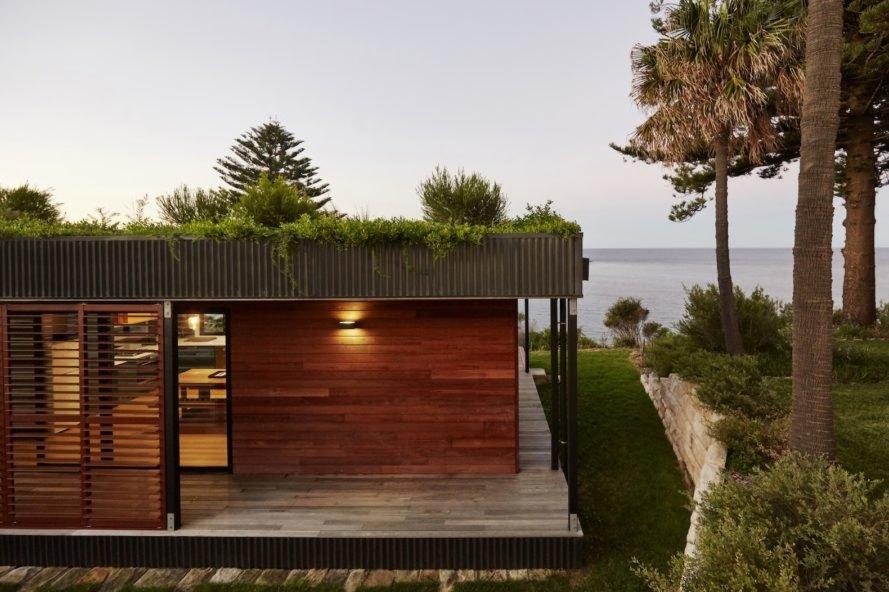 Casa com jardim no teto.
