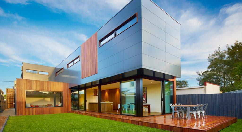 Casa pré-moldada moderna.