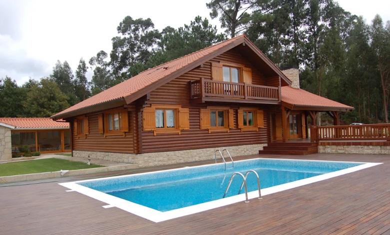 Casas de madeira perfeitas para o campo.