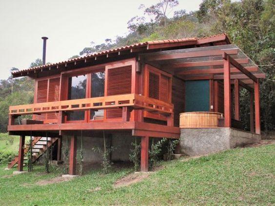 Casa de madeira rústica.