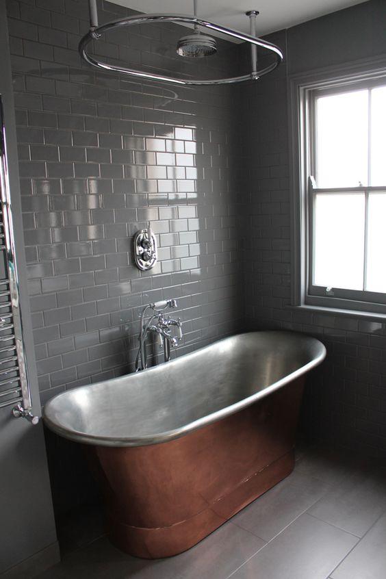 banheira de metal para imersão