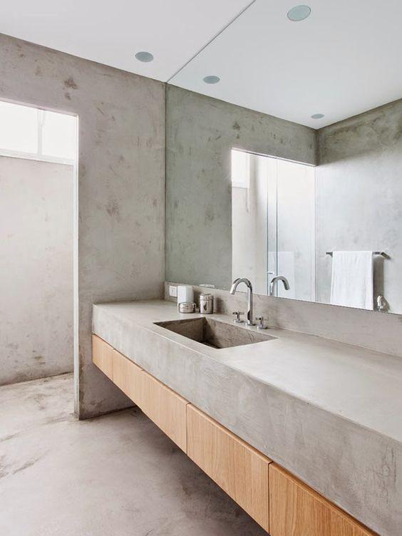 banheiro em concreto