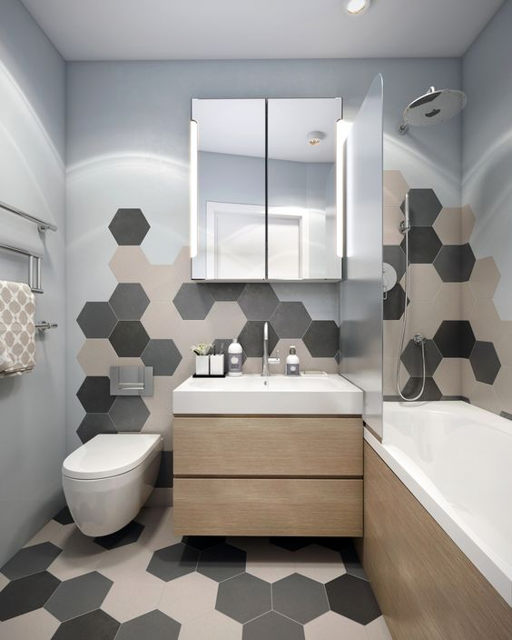 revestimento hexagonal