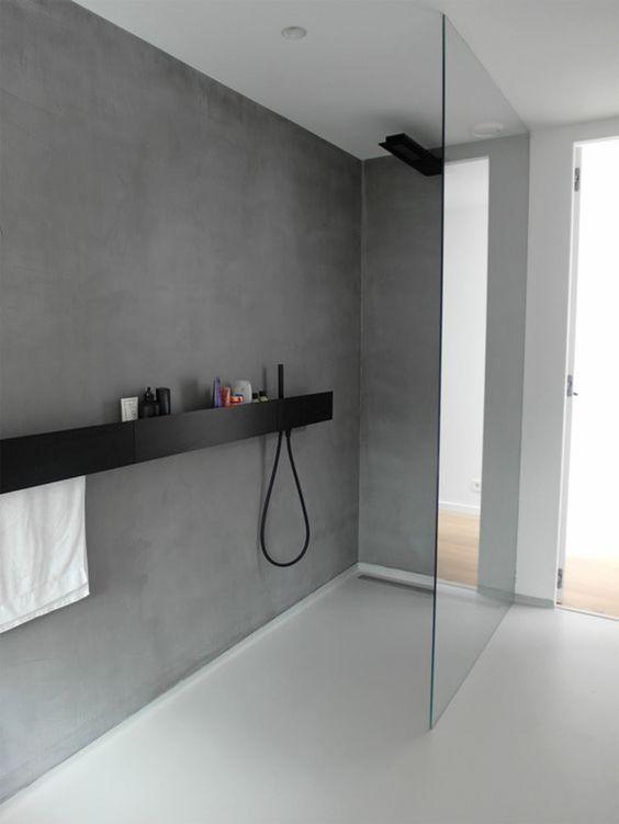 ducha moderna monocromática