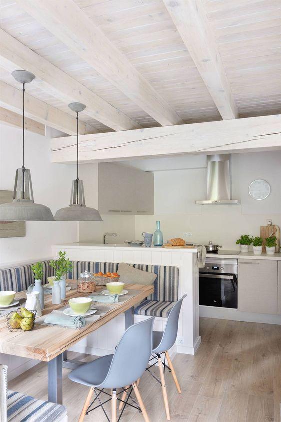 cozinha americana com sala de jantar canto alemão