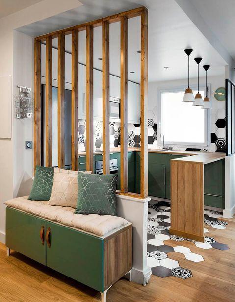 cozinha compacta verde