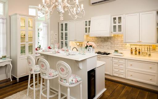 cozinha provençal rústica branca